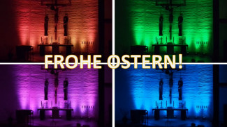 Frohe Ostern bunt